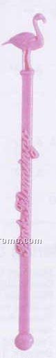 """6-1/4"""" Stock Pink Flamingo Stirrer (Non Imprintable)"""
