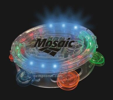 Clear Light Up Tambourine W/ Multi Color LED