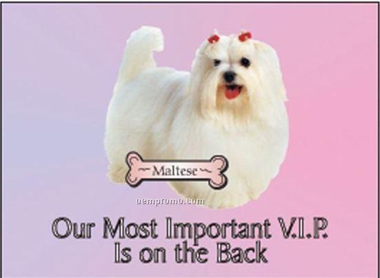 "Maltese Dog Rectangle Hand Mirror (2 1/2""X3 1/2"")"