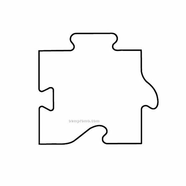 Stock Shape Puzzle Part Recycled Magnet