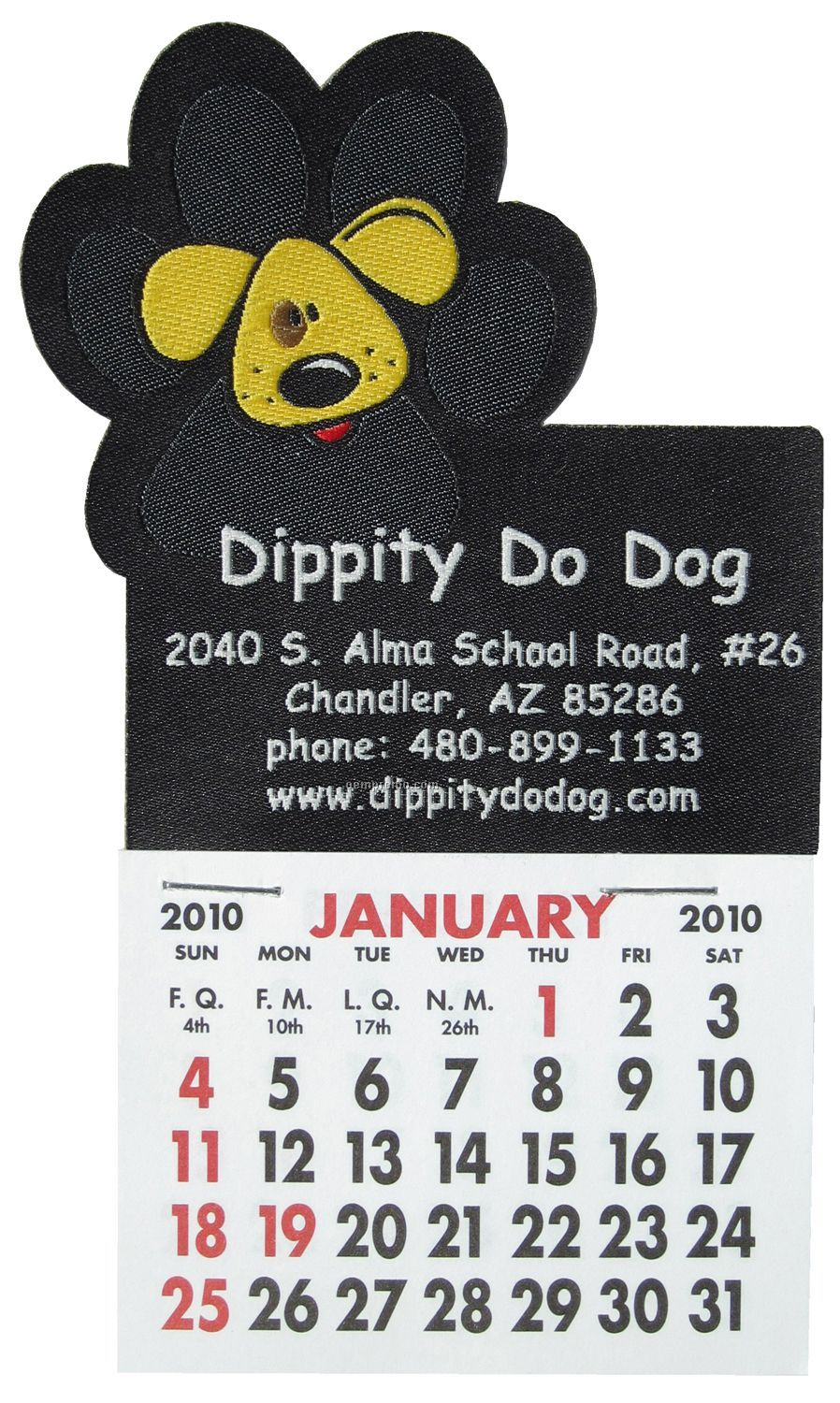 Woven Stick-on Calendar With Paw Print