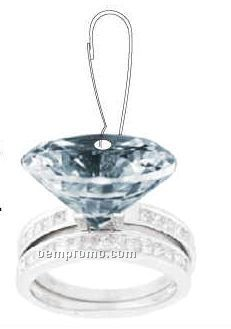 Diamond Ring Zipper Pull