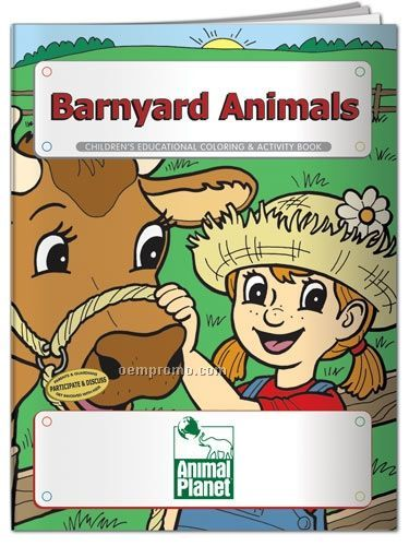Fun Pack Coloring Book W/ Crayons - Barnyard Animals
