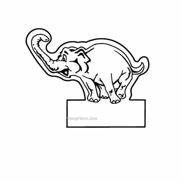 Stock Shape Elephant On Box Recycled Magnet