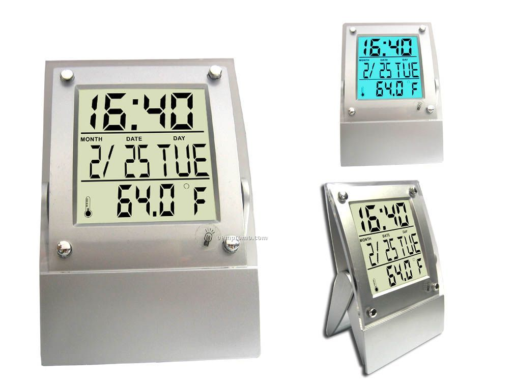 Touch / Tap Panel Light Up Clock