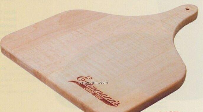 "Wood Cutting Board W/ Paddle Handle (15""X12""X3/4"")"