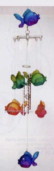 """20"""" Acrylic 3d Tropical Fish Wind Chime"""