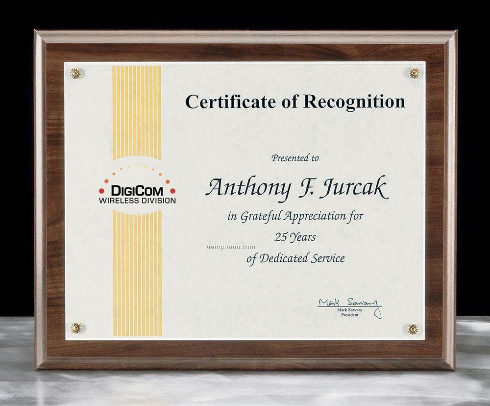 """Framed Certificate Award -13""""X10 1/2"""""""