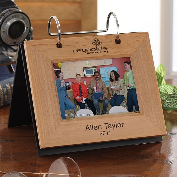 Personalized Corporate Engraved Logo Photo Flip Album
