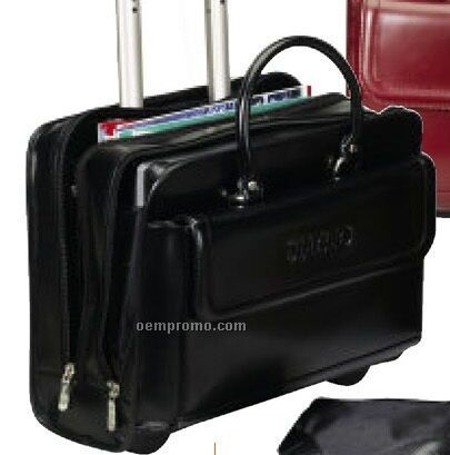 The Transit Tote Briefcase W/ Wheels & Telescopic Handle