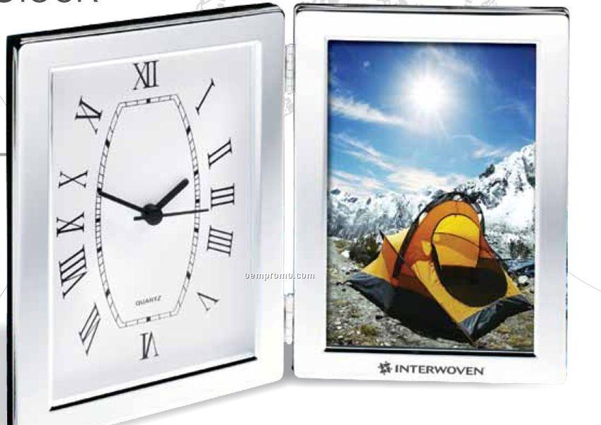 "4""X6"" Photo Frame & Hinged Clock"