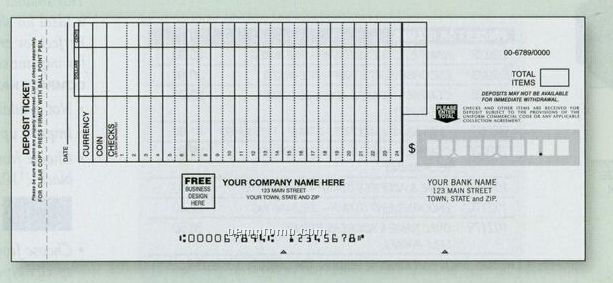 Classic Deposit Ticket Set (3 Part)