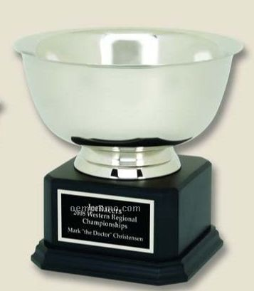 "Classic Revere Bowl On Wood Base (8""X6 3/4"")"
