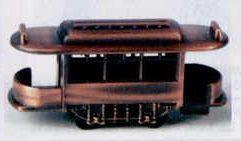 Early American Bronze Metal Pencil Sharpener - Rail Car