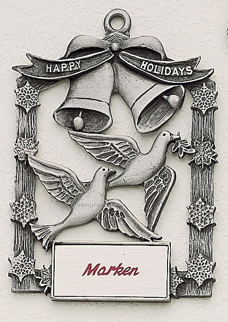 Mastercast Design Doves Cast Ornament