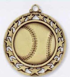 Star Border Medallions - Baseball