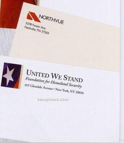 4 Color Process 24 Lb. Classic Laid Envelope #10