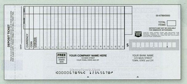 Classic Deposit Ticket Set (4 Part)