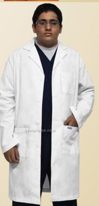 """Men's 40"""" White Lab Coat"""