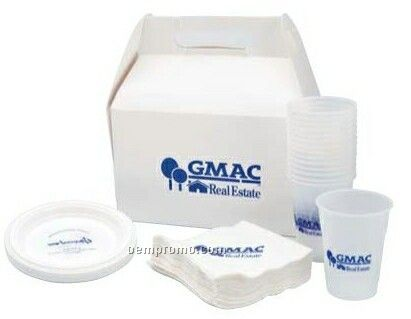 Snack Pack Set With Napkins/ 15 Plastic Plates & 15 Plastic Cups