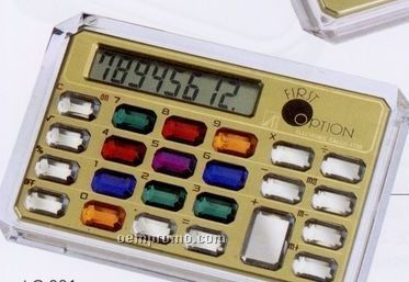 Horizontal 8 Digits Jewelry Calculator