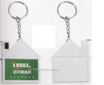 House Shaped Tape Measurer With Key Ring