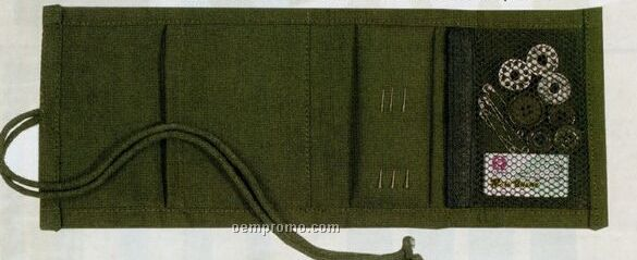Olive Green Drab Canvas Military Sewing Kit