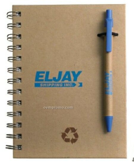 Recycled Notebook/Pen Combo