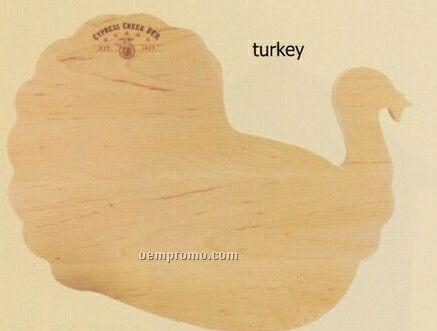 Turkey Shaped Wood Cutting Board