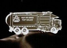 Acrylic Paperweight Up To 16 Square Inches / Garbage Truck 1