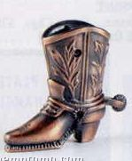 Bronze Metal Pencil Sharpener - Cowboy Boot & Spur