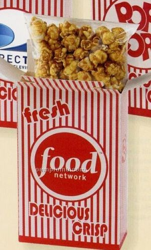 Caramel Popcorn In Closed Top Popcorn Box