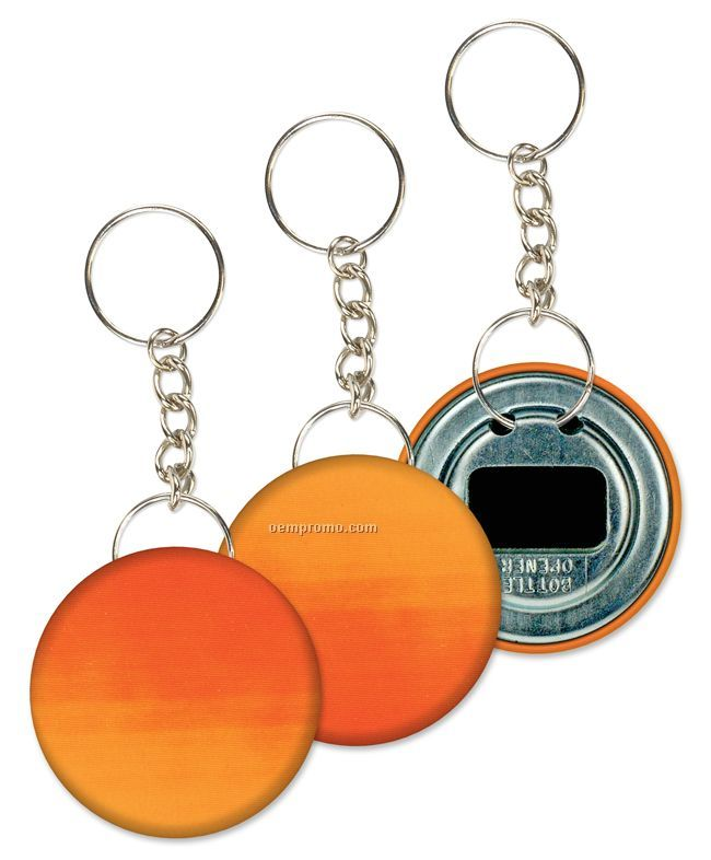 Key Chain Bottle Opener, Orange/Red Color Changing Stock Design, Blank