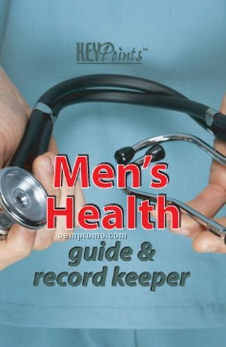Men's Health Guide & Record Keeper Key Point Brochure (Folds To Card Size)