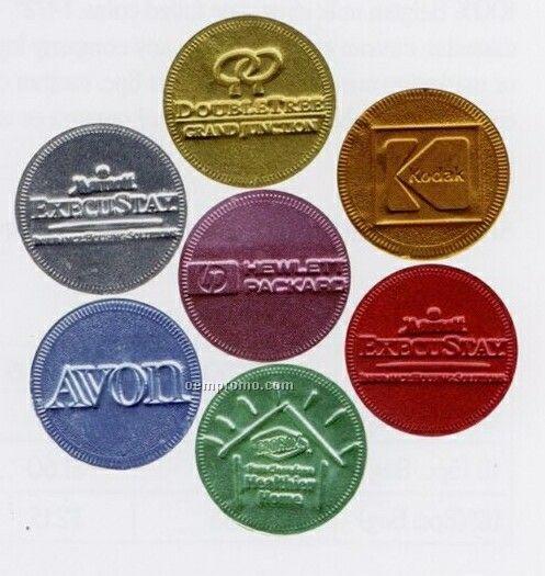 "1-1/2"" 100% Belgian Custom Chocolate Coins"