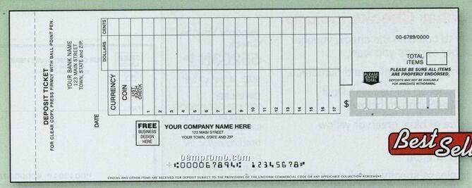 Classic Deposit Ticket Book (3 Part)