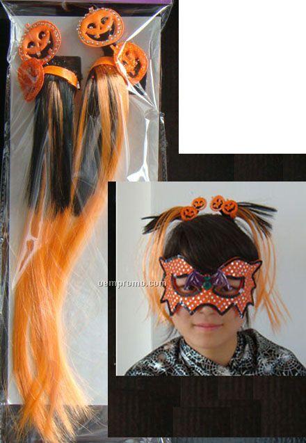 Halloween Pumpkin Hair Comb