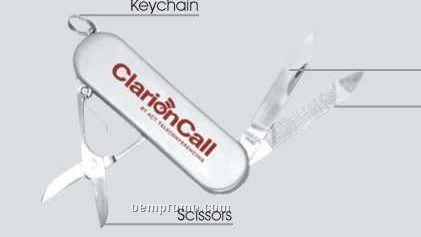 Stainless Steel Tech Knife W/Key Chain