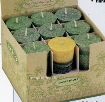 100% Natural Palm Wax Single Poured Falling Rain Scented Votive