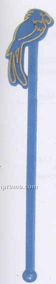 "7"" Stock Parrot Stirrer W/ 1 Color Imprint"