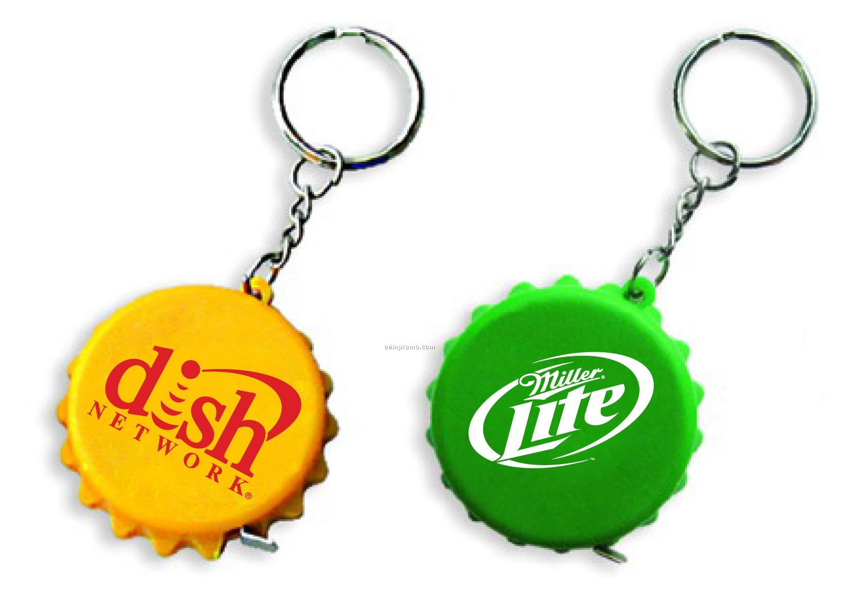 Bottle Cap Tape Measure Key Chain