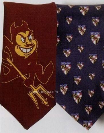 Custom Collegiate Printed Polyester Tie
