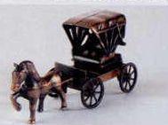 Early American Bronze Metal Pencil Sharpener - Wagon W/ Horse
