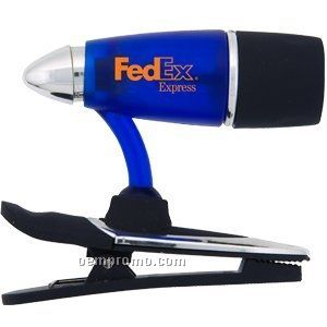 Flashlight W/ Mini Clip - Blue