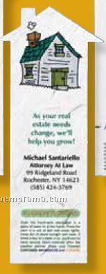 House Floral Seed Paper Stock Die Cut Bookmark