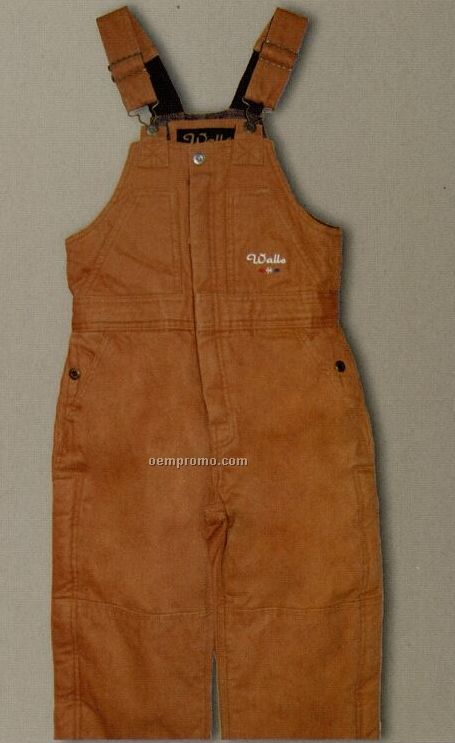 Walls Youth Mid Weight Zip Front Insulated Bib Overalls