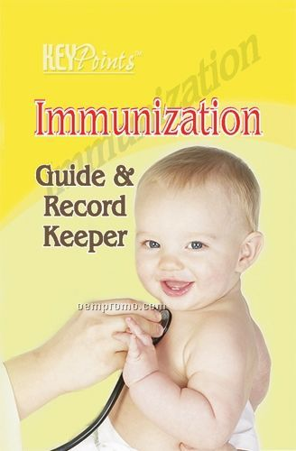 Immunization Guide & Record Keeper Key Point Brochure (Folds To Card Size)