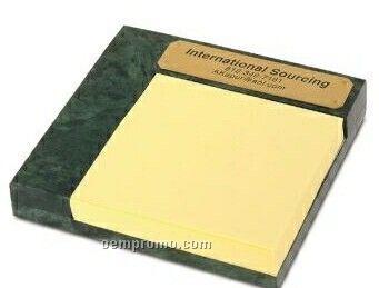 Senator II Green Marble sticky memo pad W/ Pad