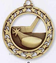Star Border Medallions - Hockey