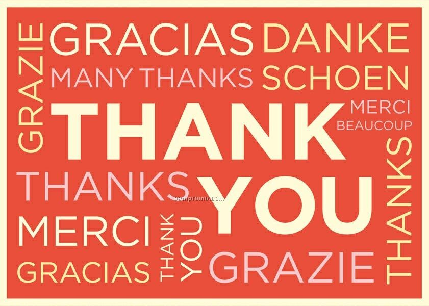 Typography Thank You Notes China Wholesale Typography